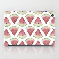 watermelon iPad Cases featuring Watermelon by Jill Byers