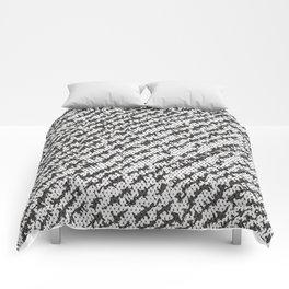 Modern White Black Popular Trendy Abstract Pattern Comforters