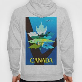 Vintage Canada Travel Poster Hoody