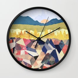 Fall Afternoon Light Wall Clock