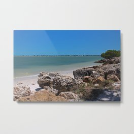 The Invisible Wall Metal Print