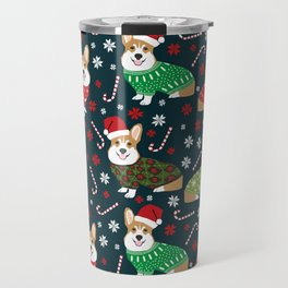Corgi christmas sweater ugly sweater party with welsh corgis dog lovers dream christmas Travel Mug