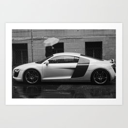 Fast in the Rain Art Print