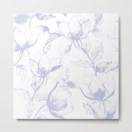 Purple floral romantic art print Metal Print