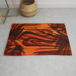 Vegetation orange Rug