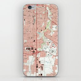 Fort Worth Texas Map (1995) iPhone Skin
