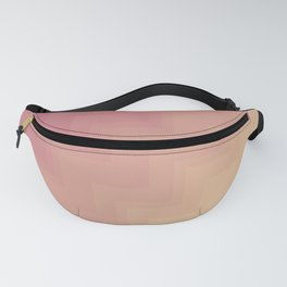 Pink & Yellow Gradient Chevrons Fanny Pack