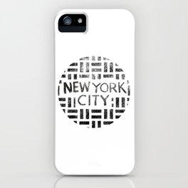 new york city typography illustration iPhone Case