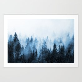 Misty Winter Forest Art Print