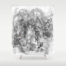 carré mystique Shower Curtain