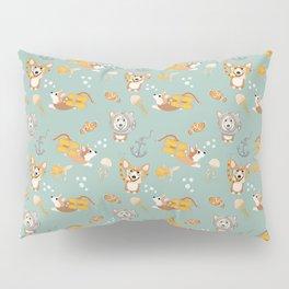 Majesty Pembroke - Happy Diving Corgis II Pillow Sham