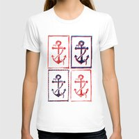 anchors T-shirts featuring Abundant Anchors by Isobel Woodcock Illustration