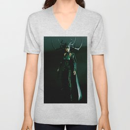 It's come to my attention that you don't know who I am. I am Hela. Odin's firstborn... Unisex V-Neck