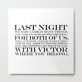quoting Hollywood 14 Metal Print
