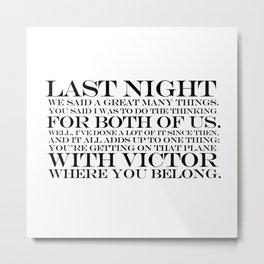 quoting Hollywood 14 Metal Print