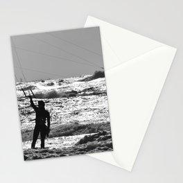Kitesurfer at the beach Stationery Cards