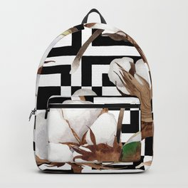 Cotton Flower Pattern 09 Backpack
