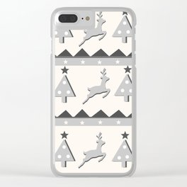 Deer3 Clear iPhone Case