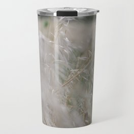 Tall wild grass growing in a meadow Travel Mug