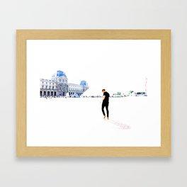 Walking in Paris. Framed Art Print