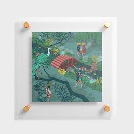 Ukiyo-e tale: The beginning of the trip Floating Acrylic Print