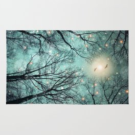 Nature Blazes Before Your Eyes (Mint Embers) Rug