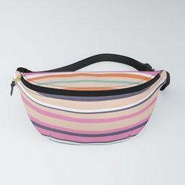 Vibrant Colorful Summer Stripes Pattern, Orange,Pink, Teal, Purple Fanny Pack