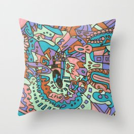 Tear My Heart Out (Orchid) Throw Pillow