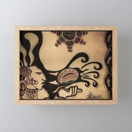 Prehispanic coffee Framed Mini Art Print