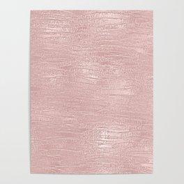 Metallic Rose Gold Blush Poster