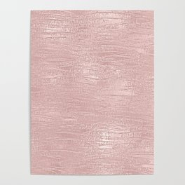 Metallic Rose Gold Blush Poster