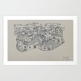 The Village Art Print