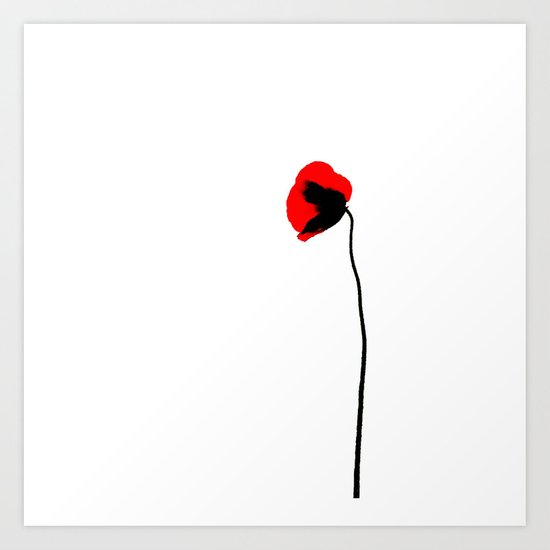 Simply poppy Art Print