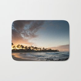 Sunrise at Poipu beach in Kauai, Hawaii Bath Mat