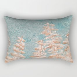 Golden trees on a cold day Rectangular Pillow
