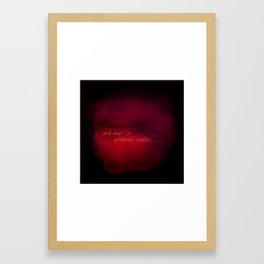 my water pillow Framed Art Print