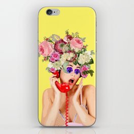 Woman in Rose iPhone Skin