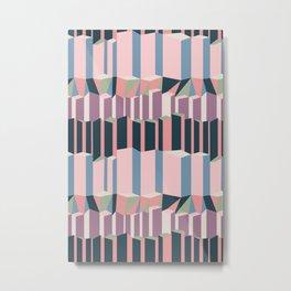 Straight Geometry City 1 Metal Print