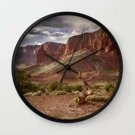Mountains at Capitol Reef National Park - Utah Wall Clock
