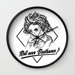 Roll Over Beethoven - Hand drawing design Wall Clock