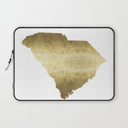 south carolina gold foil state map Laptop Sleeve