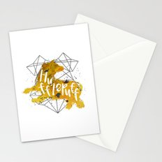 Hufflepuff Black Splatter Stationery Cards