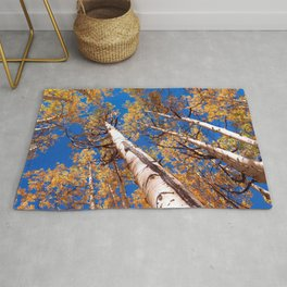 Aspen Trees Against The Sky In Crested Butte, Colorado Rug