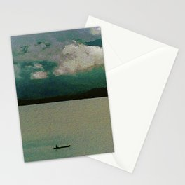 lonely canoe Stationery Cards