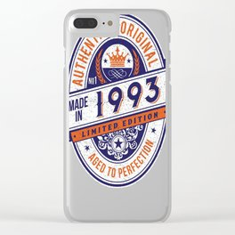 Made-In-1993-Birthday-T-Shirt-24th-Birthday-Gift-Idea Clear iPhone Case