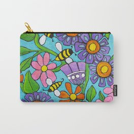 Springtime Series #4 Bee's Carry-All Pouch