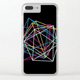 Octahedron CMYK (dark) Clear iPhone Case