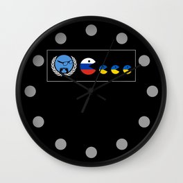 United Nations Russia and Ukraine Wall Clock