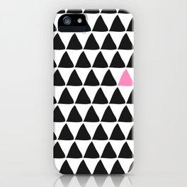 Black triangles & a weird one. iPhone Case