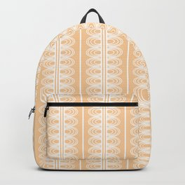 Girly peach pink and white abstract lace pattern Backpack